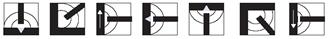 Рекомендуемые положения сварочной горелки при электродуговой сварке сварочной проволокой GEKA SG 2 (ER 70 S-6)